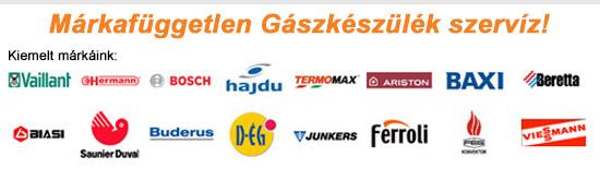 Gázkészülék márkák, gázszerelés, gázszerelő ÉRD